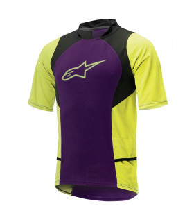 ALPINESTARS DROP 2 JERSEY  (PURPLE/ACID YELLOW)