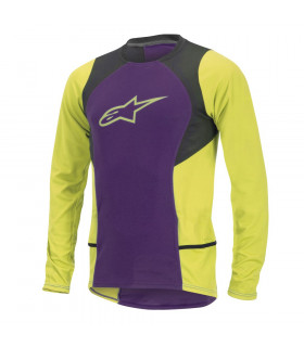 ALPINESTARS DROP 2 LS  JERSEY (PURPLE/ACID YELLOW)