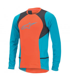 ALPINESTARS DROP 2 LS JERSEY  (SPICY ORANGE/BLUE)