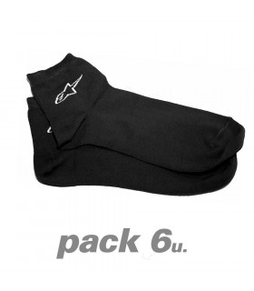 ALPINESTARS BLACK SOCKS (6 U.)