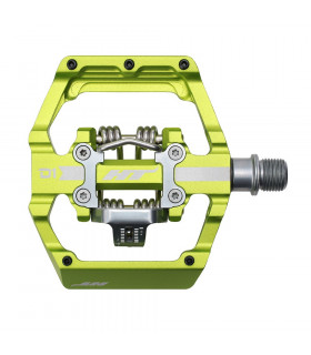 PEDALES PLATAFORMA HT D1 APPLE GREEN