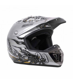 CASCO MX SHIFT AGENT PIPES BLANCO/NEGRO