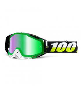 100% RACECRAFT SIMBAD GOGGLES (MIRROR GREEN LENS)