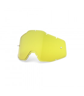 LENTE RECAMBIO HIPER YELLOW ANTI-FOG INJECTED  (RACECRAFT/ACCOURI/STRATA)