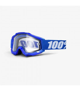 100% ACCURI ENDURO BLUE GOOGLES (DUAL-PANE CLEAR LENS)