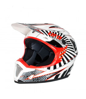 UFO NITRO MX HELMET  (WHITE/RED)