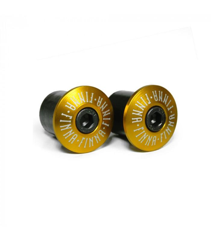 FINNA ALUMINIUM CNC HANDLEBAR END PLUGS (GOLD)