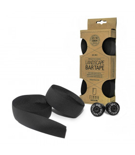 FINNA LANDSCAPE BAR TAPE WITH ALU END PLUGS (BLACK)