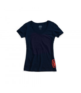 "CAMISETA CHICAS M. CORTA 100% ""SOURCE"" NAVY"