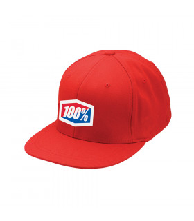 GORRA 100% ICON 210 (ROJA)
