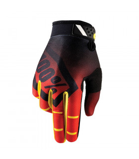100% RIDEFIT GLOVES (CORPO RED)