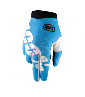 100% ITRACK GLOVES (CYAN)