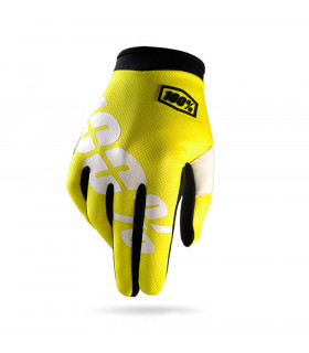 100% ITRACK GLOVES (NEON YELLOW)