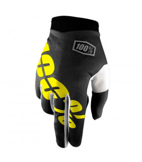 100% ITRACK GLOVES (BLACK/NEON YELLOW)