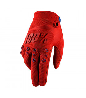 100% AIRMATIC GLOVES (FIRE RED)