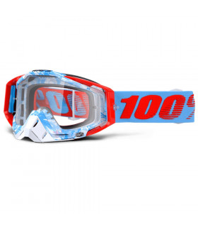 100% RACECRAFT BOBORA GOGGLES (CLEAR LENS)