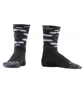 "CALCETINES NINER WOOL SERAPE 6"" GREY/BLACK"