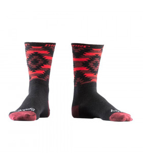 "CALCETINES NINER WOOL SERAPE 6"" BLACK/RED"