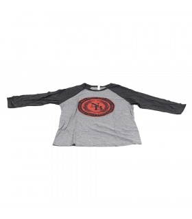 NINER COMMONWEALTH TRI-BLEND 3/4 T-SHIRT (GREY/RED)