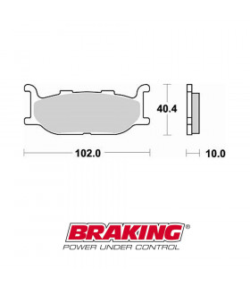 BRAKING 750CM33 SINTERED BRAKE PADS