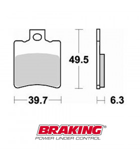 BRAKING 761CM33 SINTERED BRAKE PADS