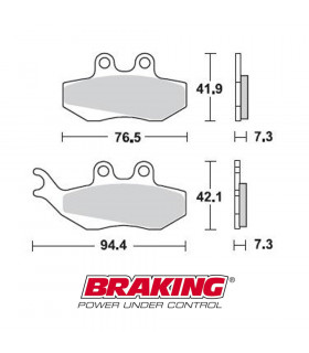 BRAKING 770CM33 SINTERED BRAKE PADS
