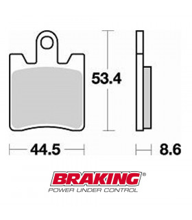 BRAKING 830CM33 SINTERED BRAKE PADS