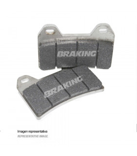 PASTILLAS FRENO RACING SINTERIZADAS BRAKING 776CM66