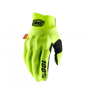 GUANTES MX 100% COGNITO FL. YELLOW/BLACK
