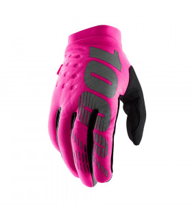 100% BRISKER WOMEN GLOVES (NEON PINK/BLACK)