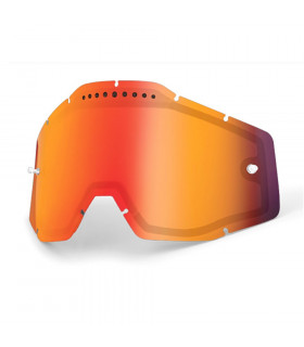 100% DUAL VENTED LENS (MIRROR RED)