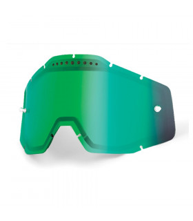 100% DUAL VENTED LENS (MIRROR GREEN)