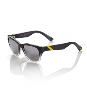 100% ATSUTA SUNGLASSES (BLACK FADE/SILVER MIRROR)