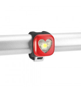 KNOG BLINDER 1 FRONT LIGHT (HEART/RED)