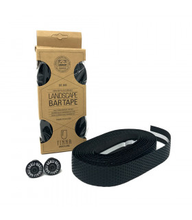 FINNA LANDSCAPE V3 BAR TAPE WITH ALU END PLUGS (BLACK)
