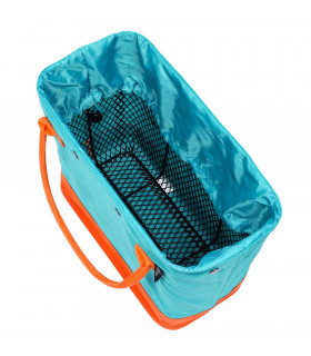 CANASTILLA CON BOLSA HOOKII BLUE/ORANGE