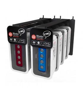 KNOG BLINDER 4 V SLATWALL PACK (RED/BLUE)