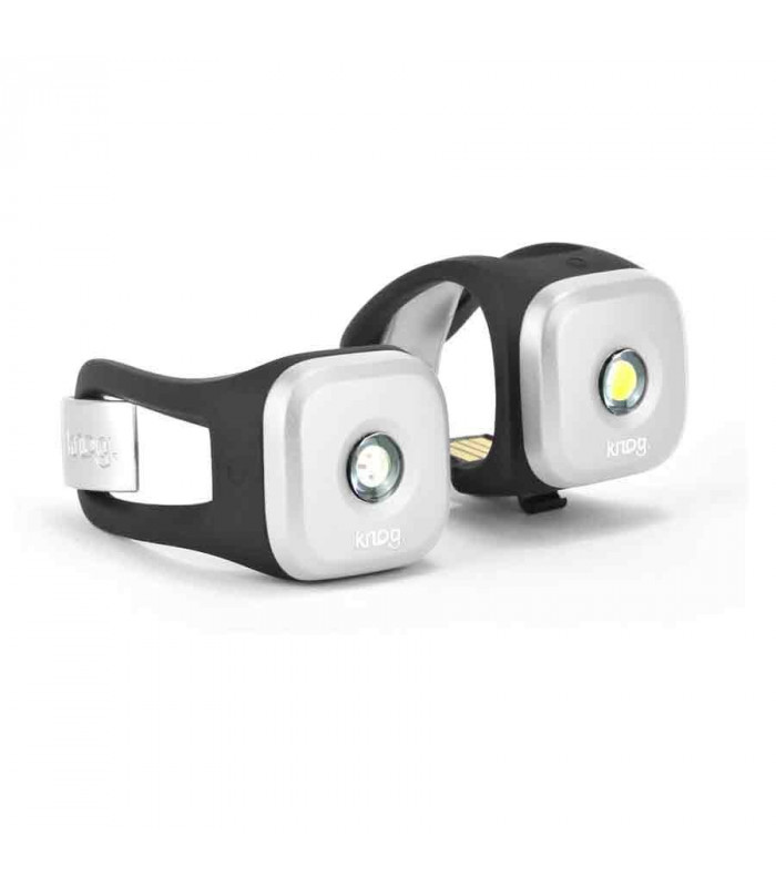 knog blinder 1 light twinpack silver topfun. Black Bedroom Furniture Sets. Home Design Ideas