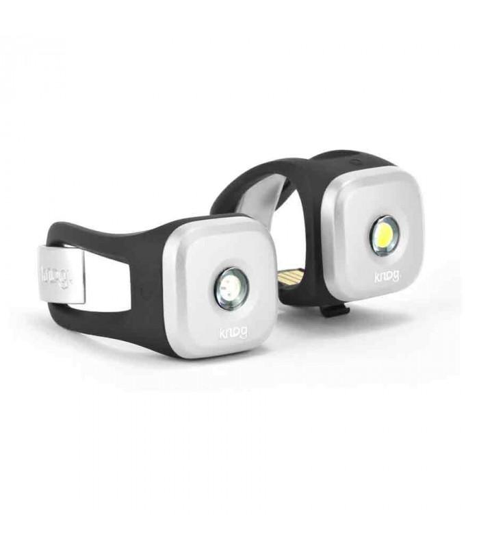 knog blinder 1 light twinpack silver topfun. Black Bedroom Furniture Sets. Home Design Ideas