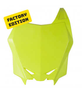 PLACA FRONTAL PORTAN. NEON YELLOW FACTORY EDITION  SUZUKI RMZ 250 2010-17 / 450 2008-17
