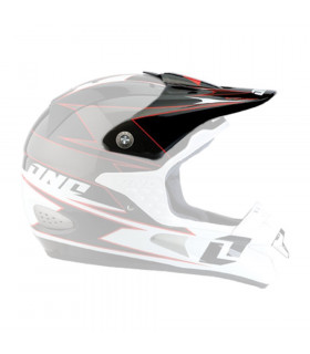 ONE INDUSTRIES TROOPER HELMET VISOR (BLACK-WHITE CHARCO)