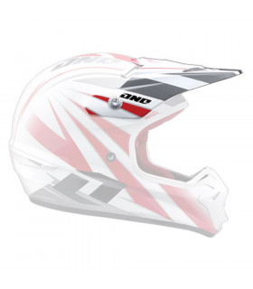 ONE INDUSTRIES KOMBAT HELMET (RACING STRIPES WHITE)