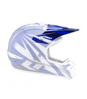 ONE INDUSTRIES KOMBAT HELMET (RACING STRIPES BLUE)