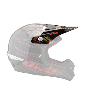 ONE INDUSTRIES KOMBAT HELMET VISOR (FLAMES-BLACK/RED)