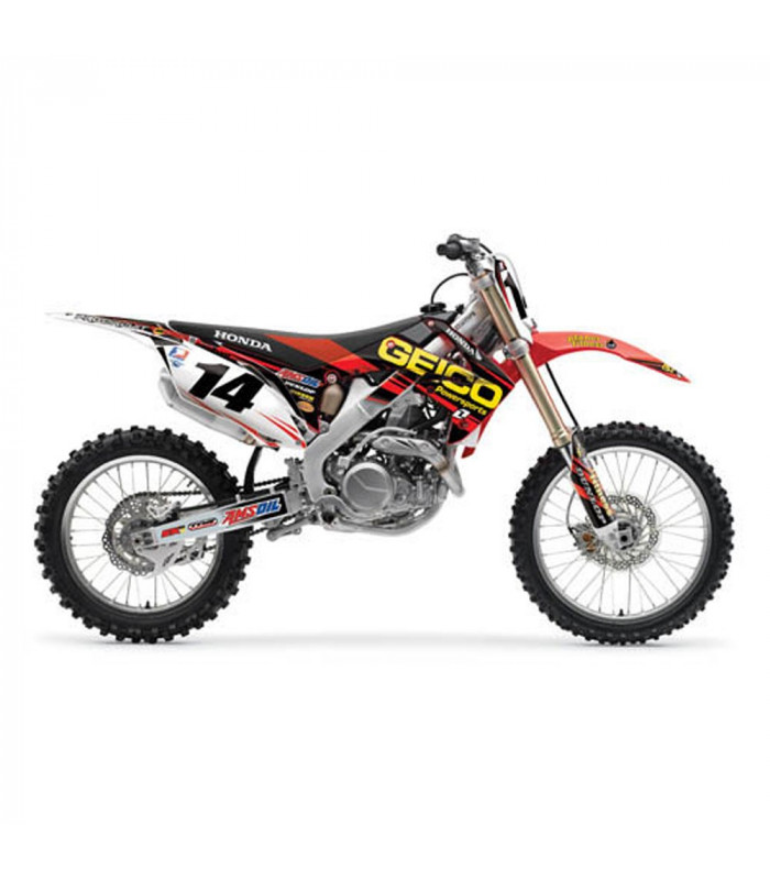 One 10 Factory Graphics Kit Seat Cover Honda Crf 450
