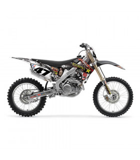 10 H&H ROCKSTAR GRAPHICS KIT + SEAT COVER HONDA CRF 250 (2010)