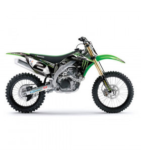ONE 10 FACTORY GRAPHICS KIT + SEAT COVER KAWASAKI KX 250 F (2006-2008)