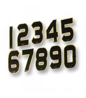 UFOBLACK/GOLD NUMBERS STICKERS (10 UNITS PACK)