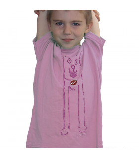 CAMISETA INFANTIL NINER TRAILDOG (ROSA)