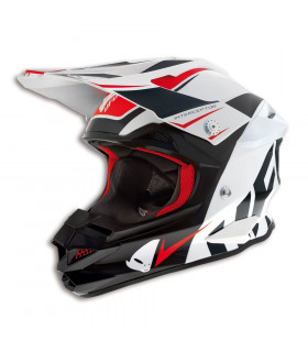 UFO INTERCEPTOR ARCADE HELMET (BLACK/WHITE/RED)